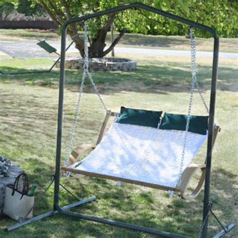 2 person hammock swing traditional by brookstone