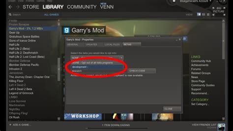 code mod game online garry s mod beta on steipe experimental linux