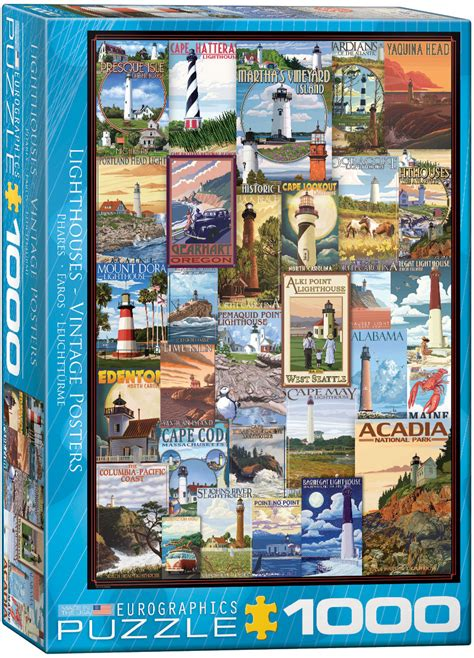 vintage ads lighthouses jigsaw puzzles  eurographics