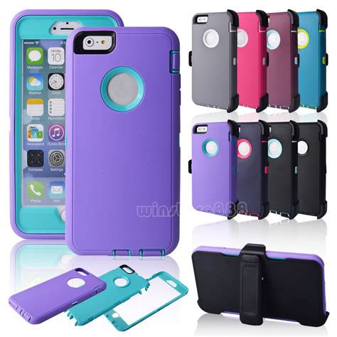 Apple Iphone 6 Shockproof Rugged Future Armor Hybrid Soft heavy duty rugged shockproof cover belt clip holster