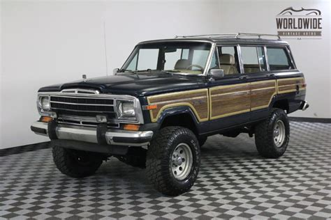 jeep wagoneer lifted 1989 jeep wagoneer lifted v8 ac auto ebay