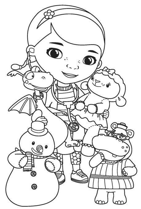 Disney Junior Doc Mcstuffins Coloring Pages Coloring Pages