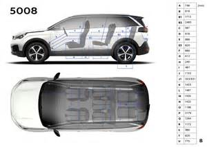 photo dimensions int 233 rieures mm peugeot 5008 ii 2017
