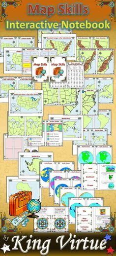 map skills united states and china map skills cut and paste activity