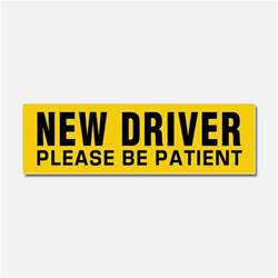 new car drive new driver car accessories auto stickers license plates