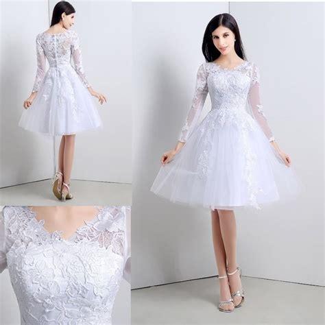 vestido novia civil corto vestido de novia boda civil corto tul encaje elegante