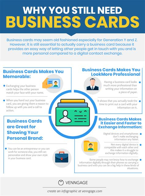 Do I Need Business Cards As An Mba by Why You Still Need Business Cards Infographic Business