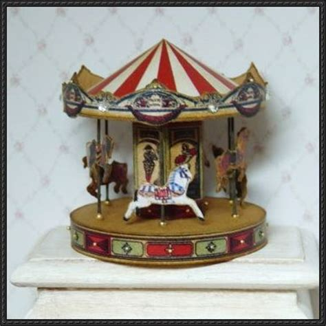 Miniature Paper Craft - carousel miniature free papercraft
