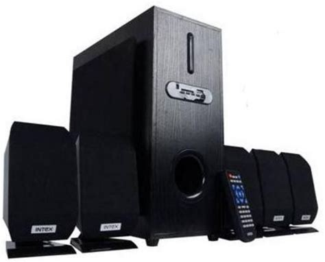 intex home theater system 5 1 channel multimedia speakers