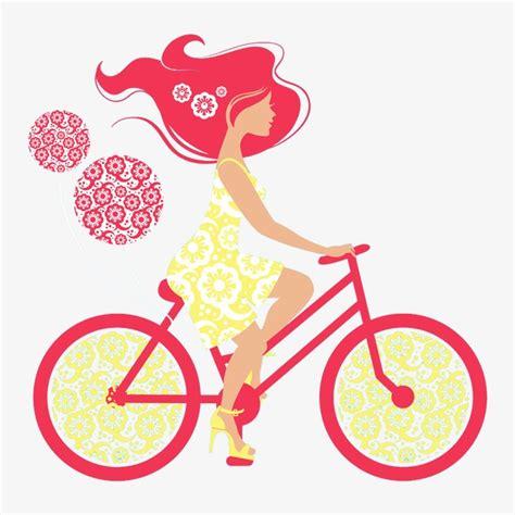 imagenes muñecas retro đi xe đạp nữ chiếc xe đạp đồ thị vector c 244 g 225 i png v 224
