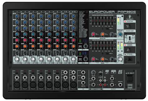 Mixer Behringer Pmp behringer pmp980s europower 900 watt 10 channel powered mixer