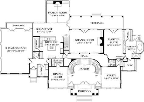 manor floor plan stately georgian manor 17563lv architectural designs