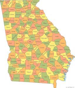 county map map of