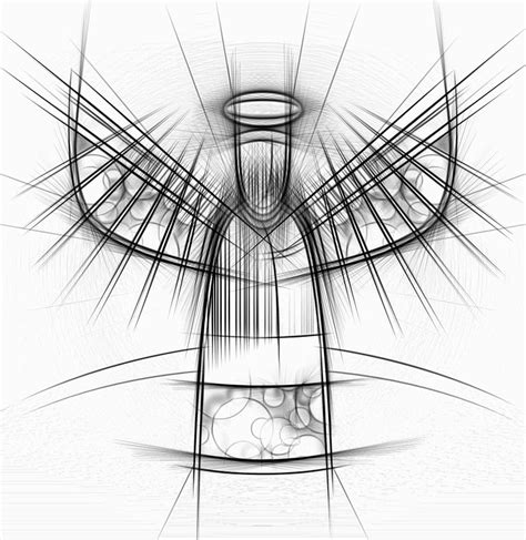 free illustration angel drawing abstract free image
