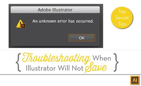 adobe illustrator cs6 unknown error when saving illustrator cannot save quot an unknown error has occurred