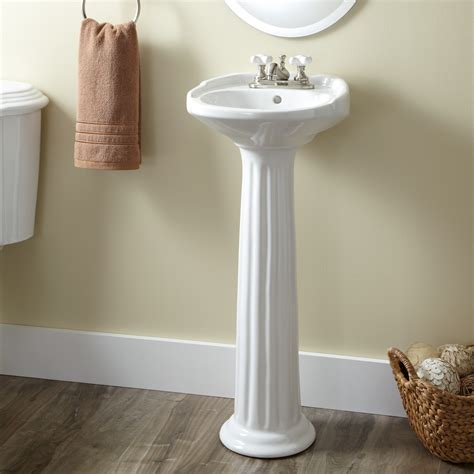 bathroom pedestal sinks ideas victorian ultra petite porcelain pedestal sink bathroom