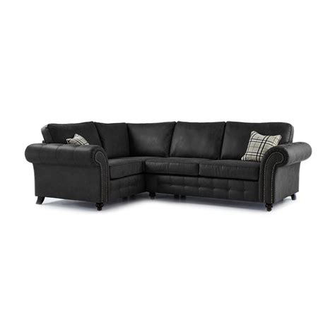 faux leather corner sofa oakland faux leather left hand corner sofa in black just