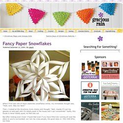 How To Make Fancy Paper Snowflakes - crafts pearltrees