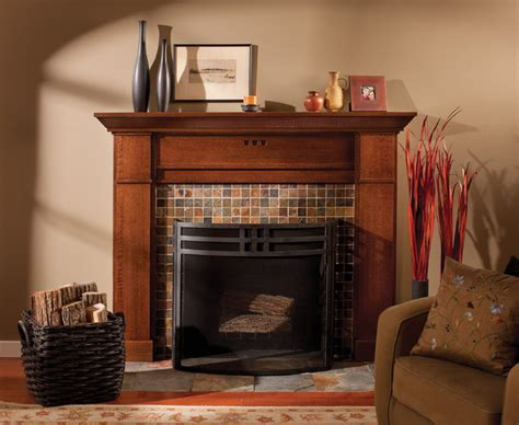Style Craft Garden Accents - mantel of a true craftsman craftsman living room minneapolis by dura supreme cabinetry