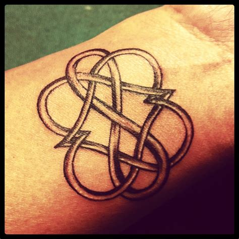 double heart infinity tattoo infinity ink it
