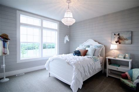 Gray Shiplap Wall Gray Shiplap Paneling With Floating Console Country