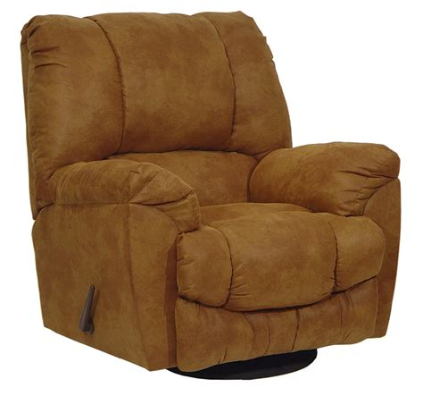 microfiber swivel recliner goliath chaise swivel glider recliner in rust microfiber