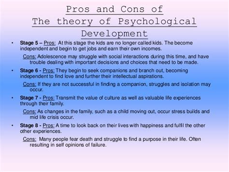 7 Pros And Cons Of Becoming A by Erik Erikson