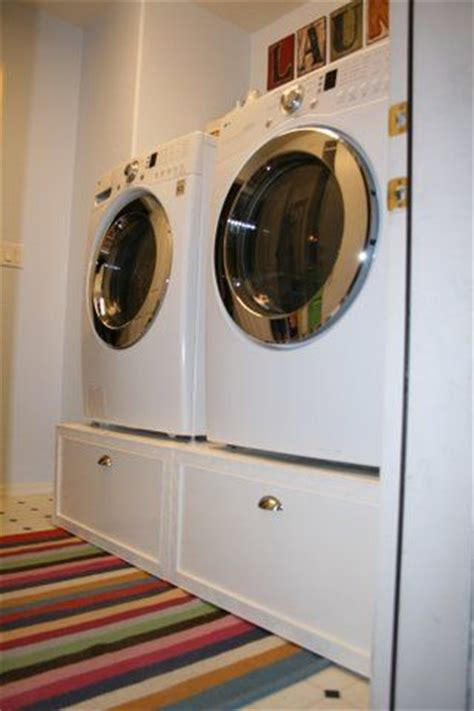 Diy Laundry Pedestal With Drawers by Washers Pedestal And 2nd One On