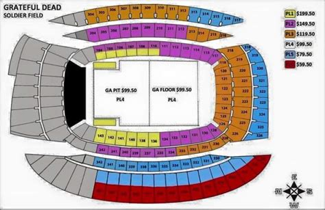 soldier field seating chart soldier field concert seating chart www pixshark