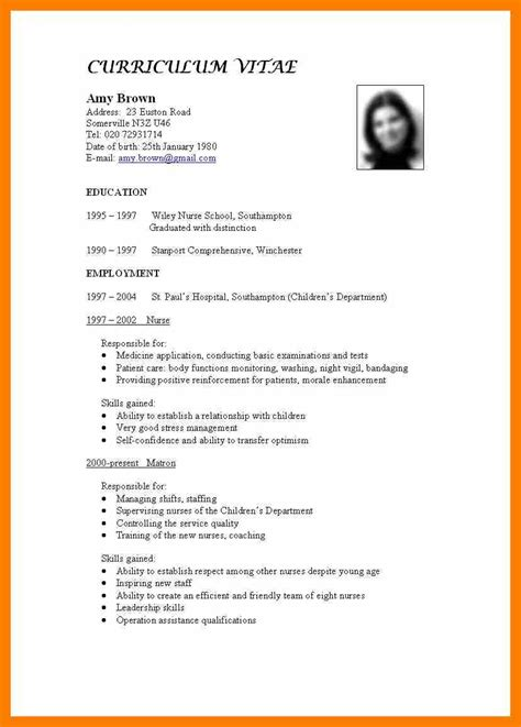 curriculum vitae layout exles nanny description on resume resume writers in houston use