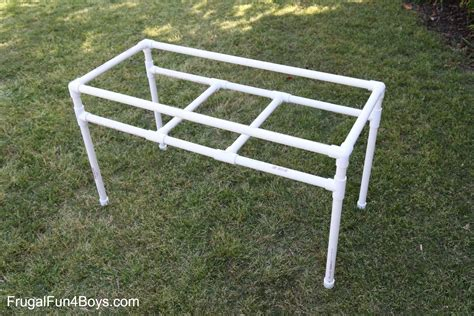 how to build a sand table how to build a pvc pipe sand and water table frugal fun