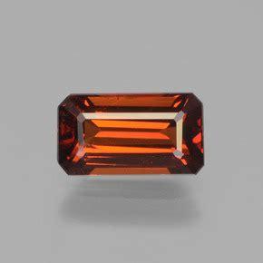 Spessartite Garnet 7 26ct orange spessartite garnet 1 3 carat octagon emerald cut