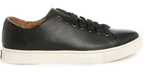 polo leather sneakers polo ralph jermain black leather sneakers in black