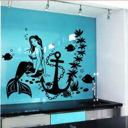 Mermaid Wall Stickers Wall Decal Mermaid Fish Anime Girl Stickers Marine Design