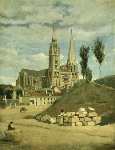 peinture facade 851 eure et loir chartres cathedrale notre dame
