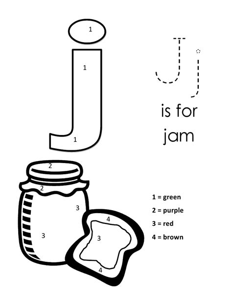 Lowercase J Coloring Page by Page Alphabet Letter J Lowercase Coloring Pages