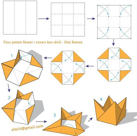 How To Make Paper Crown - 119 best images about origami flowers on how