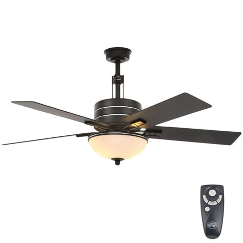 Home Depot Ceiling Fan Light Kit Hton Bay 52 In Indoor Caffe Patina Ceiling Fan With Light Kit And Remote 34112 The