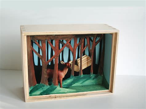 How To Make A Paper Diorama - mini diorama make