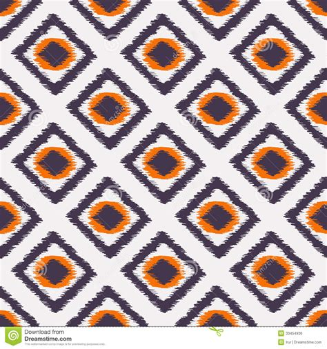 Ikat Home Decor Fabric by Ikat Seamless Pattern For Web Design Or Home Decor Stock