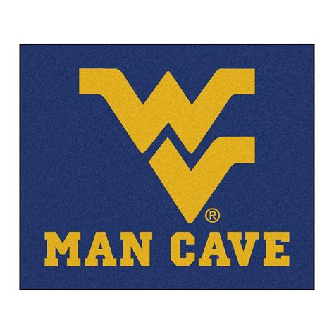 wvu rug fanmats west virginia blue cave 5 ft x 6 ft area rug 14722 the home depot