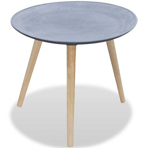 Vidaxl Co Uk Round Side Table Coffee Table Grey Concrete Coffee Side Tables