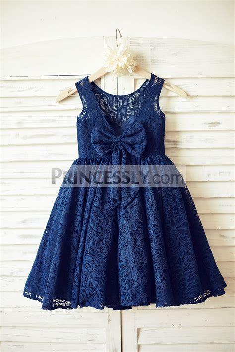 Blue Flower Back Dress Sml navy blue lace open v back flower dress with bow avivaly