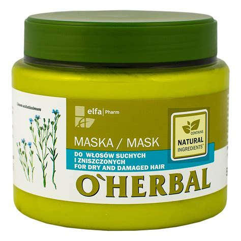 Herbal Mask o herbal mask for and damaged hair with flax extract