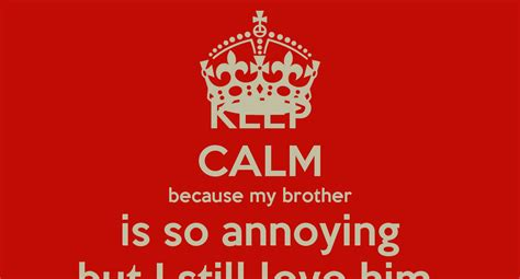 my brother is a keep calm because my brother is so annoying but i still love him poster brodie keep calm o matic