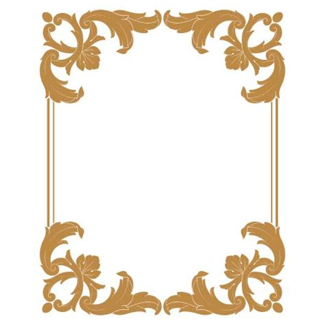 Frame Design Eps | classical borders clipart