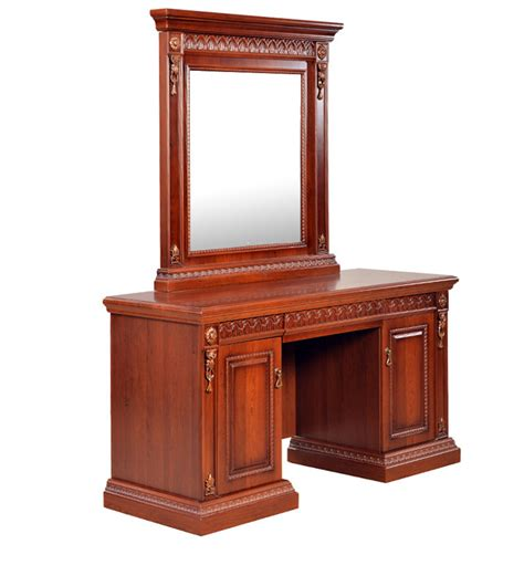 Furnicher Dressing 6fut By 30 Inch Morrison Cherry Dressing Table With Mirror And Stool
