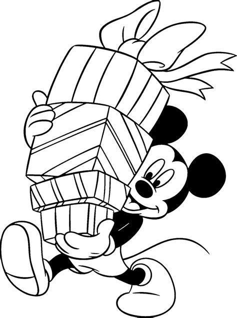 Christmas Mickey Mouse Coloring Pages To Print | disney coloring pages