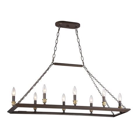 Quoizel Island Light Shop Quoizel Brook 38 In W 6 Light Western Bronze Kitchen Island Light At Lowes