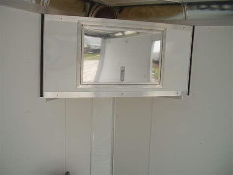 v nose cargo trailer cabinets r and p carriages enclosed trailer cabinet options